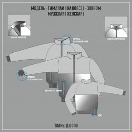 ГИМАЛАИ-ДЬЮСПО ЭКОНОМ куртка на поясе