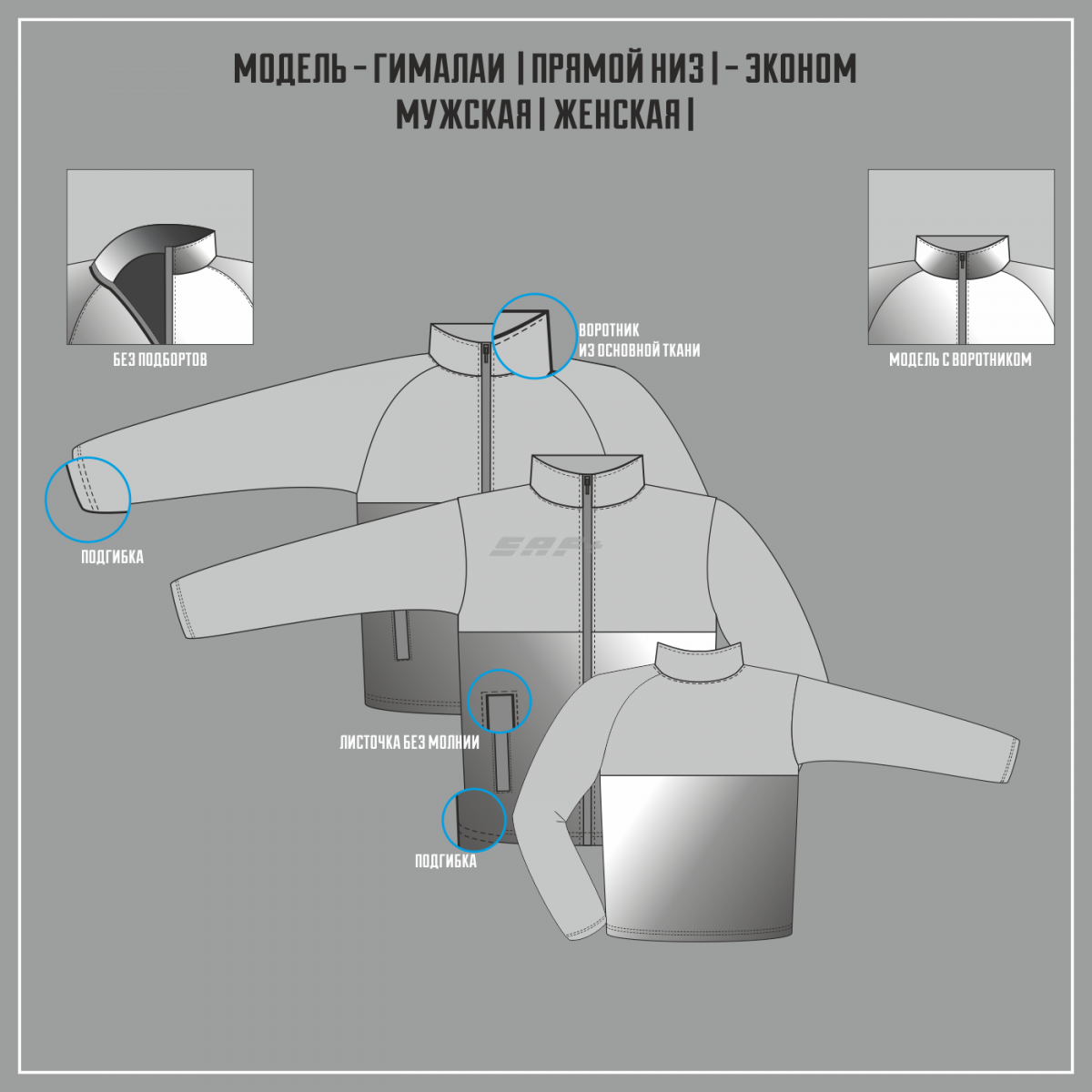 ГИМАЛАИ-СУПЕРЭЛАСТИК ЭКОНОМ куртка прямой низ (Частичная сублимация)