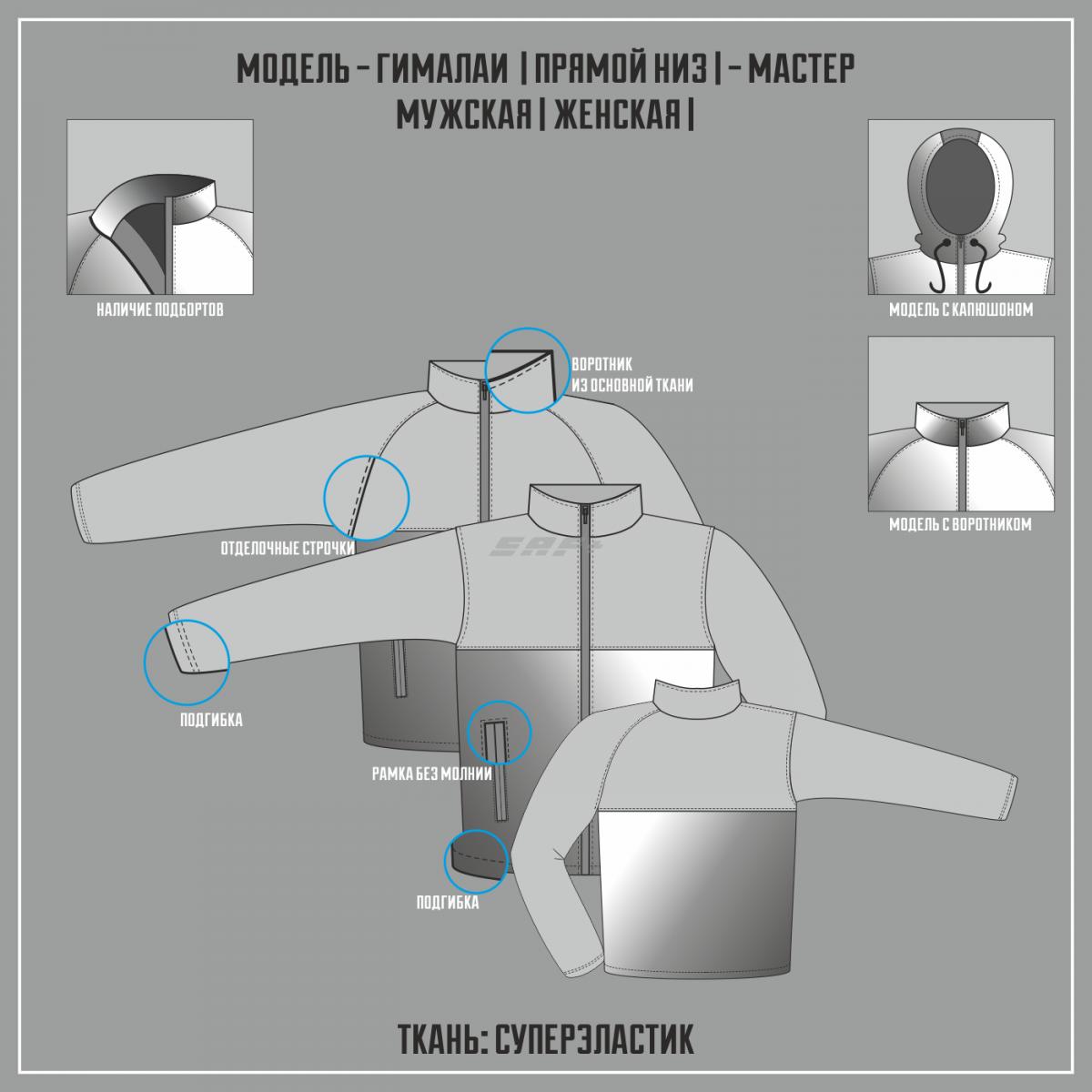 ГИМАЛАИ-СУПЕРЭЛАСТИК МАСТЕР куртка прямой низ (Частичная сублимация)