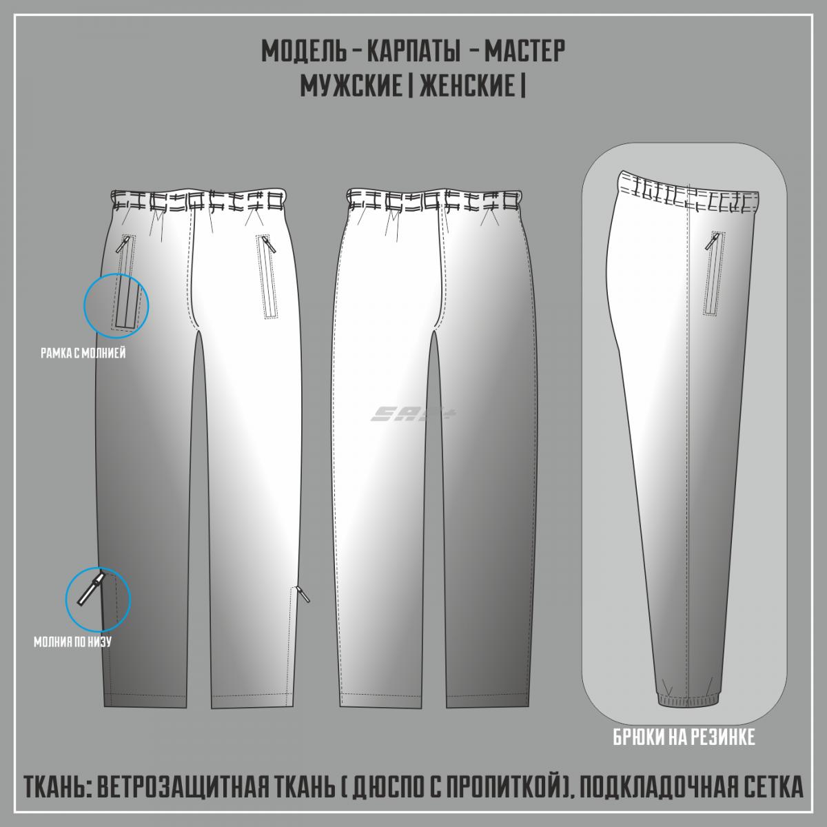 КАРПАТЫ-МАСТЕР ветрозащитные брюки (Полная сублимация)