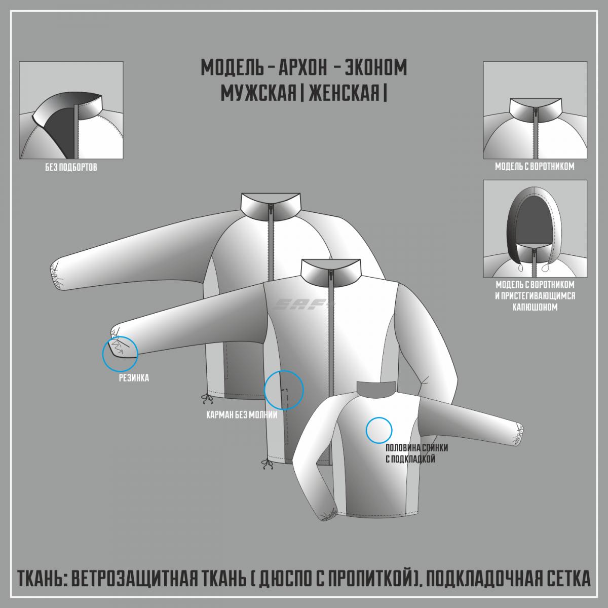 АРХОН-ЭКОНОМ ветровка (Частичная сублимация)