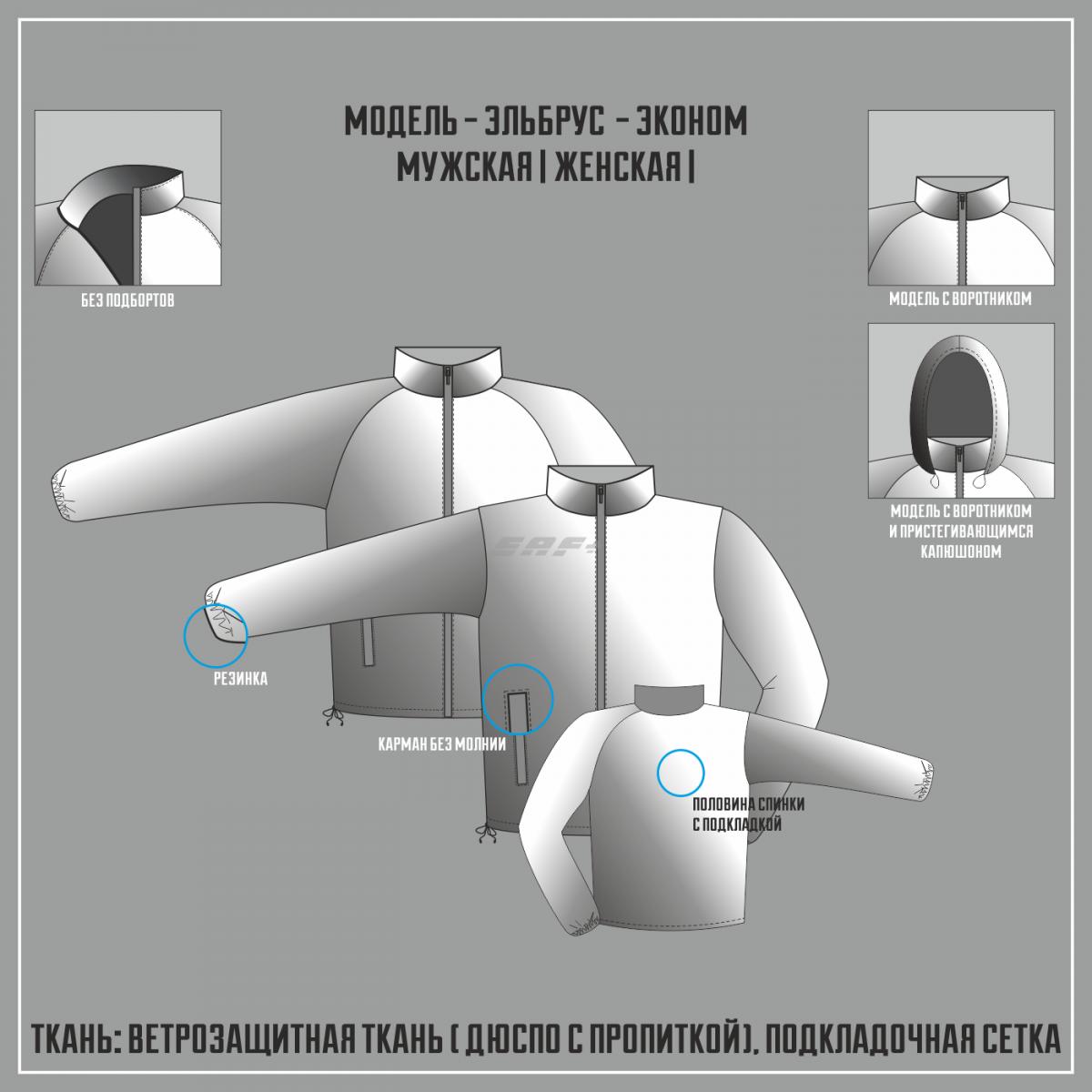 ЭЛЬБРУС-ЭКОНОМ ветровка (Полная сублимация)