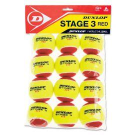 Мяч теннисный Dunlop Stage 3 (RED) 12B