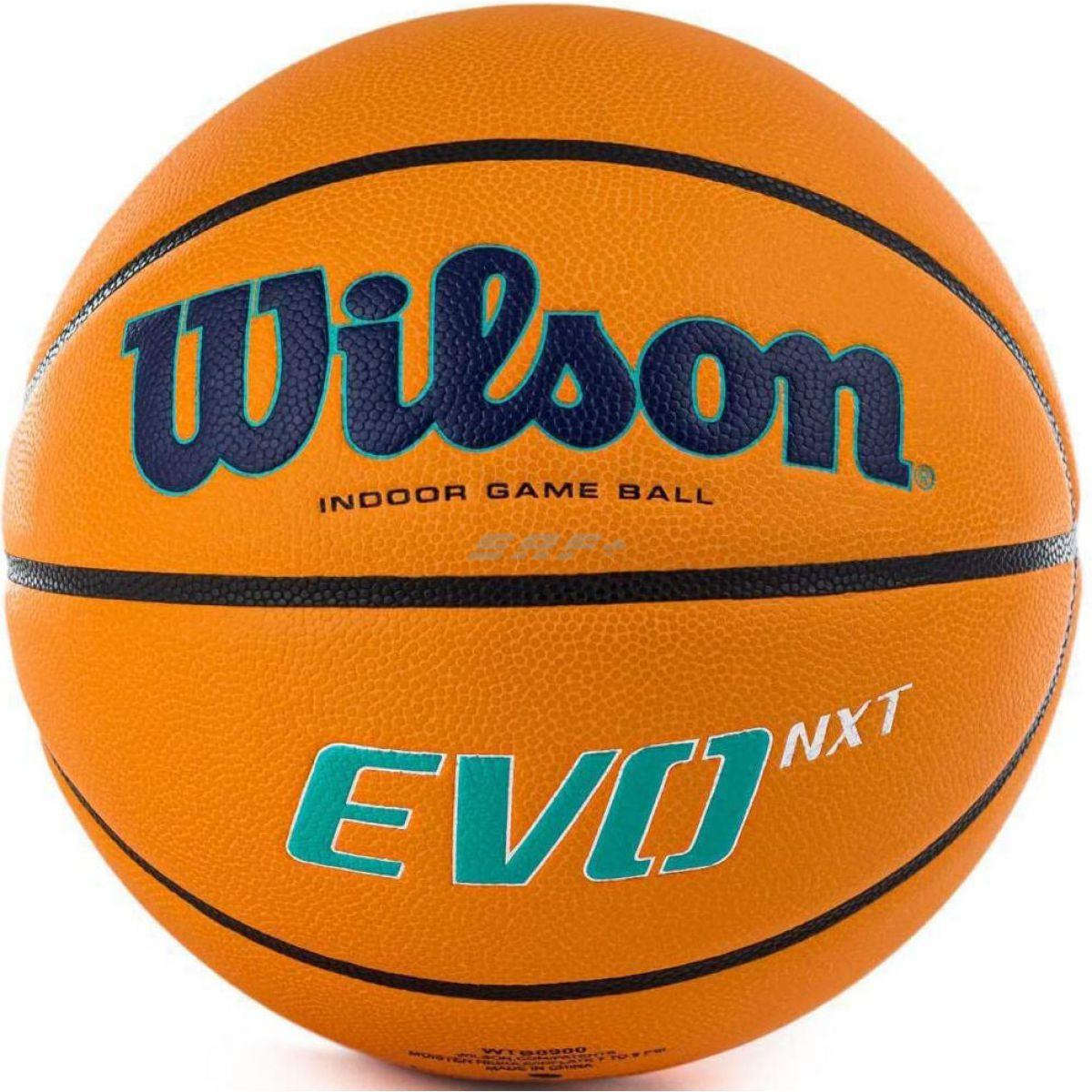 Мяч баск. WILSON EVO NXT CHAMPIONSLEAGUE, арт.WTB0900XBBCL, р.7, FIBA Appr, микрофибра, оранжевый