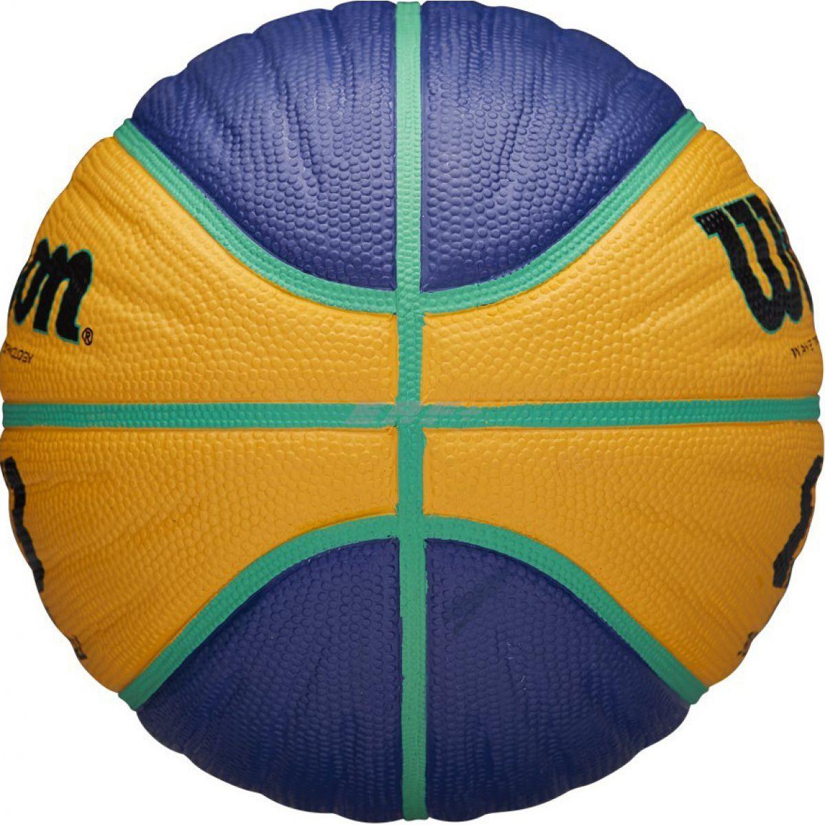 Мяч баск. WILSON FIBA3x3 Replica, арт.WTB1133XB, р.5, резина, бутил. камера, сине-желтый