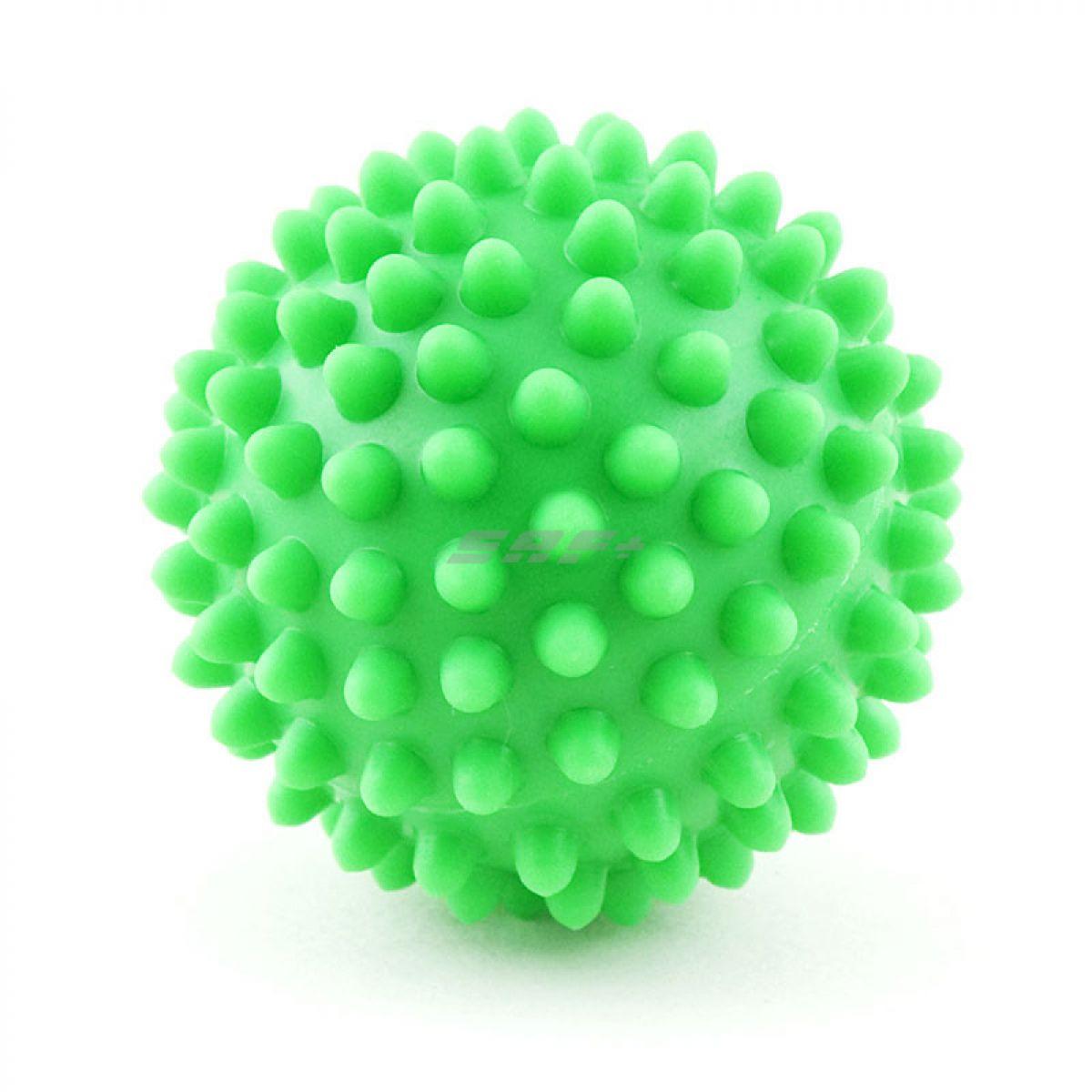 Мяч массажный, арт. 300107, ЗЕЛЕНЫЙ, диам. 7 см, поливинилхлорид
