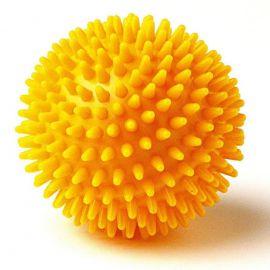 Мяч массажный, арт. L0108, диам. 8 см, поливинилхлорид, желтый