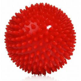Мяч массажный, арт. L0109, диам. 9 см, поливинилхлорид, красный