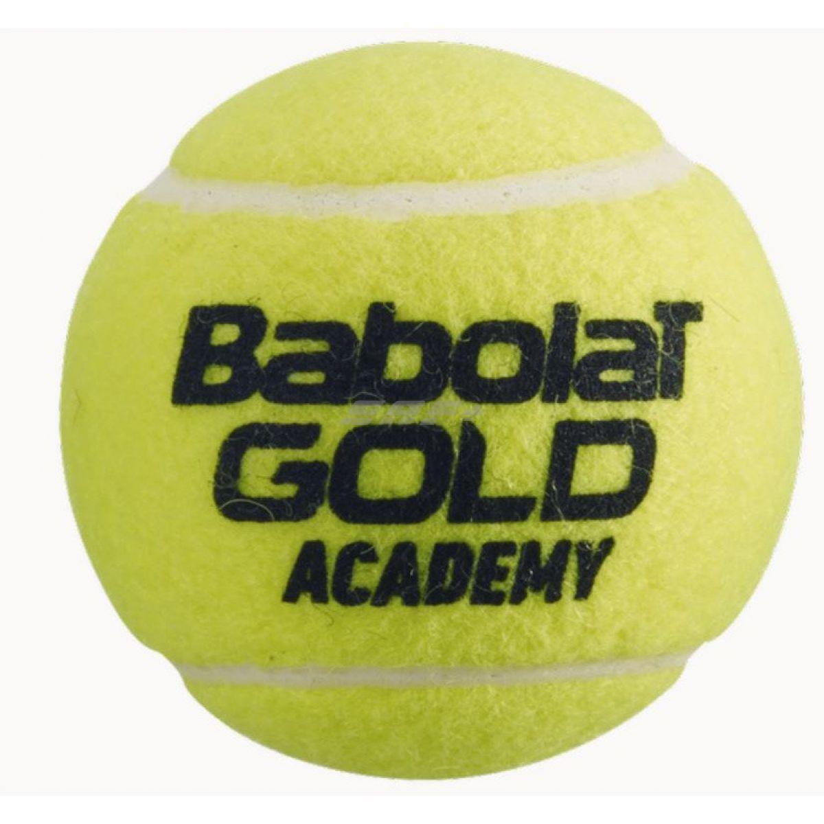 Мяч теннисный BABOLAT GOLD ACADEMY, арт.501085, уп.3шт,одобр.ITF,сукно,нат.резина,желт