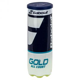 Мяч теннисный BABOLAT Gold All Court 3B,арт.501086, уп.3шт,одобр.ITF,сукно,нат.резина,желт