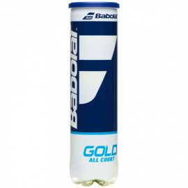 Мяч теннисный BABOLAT Gold All Court X4,арт.502085, уп.4шт,одобр.ITF,сукно,нат.резина,желт