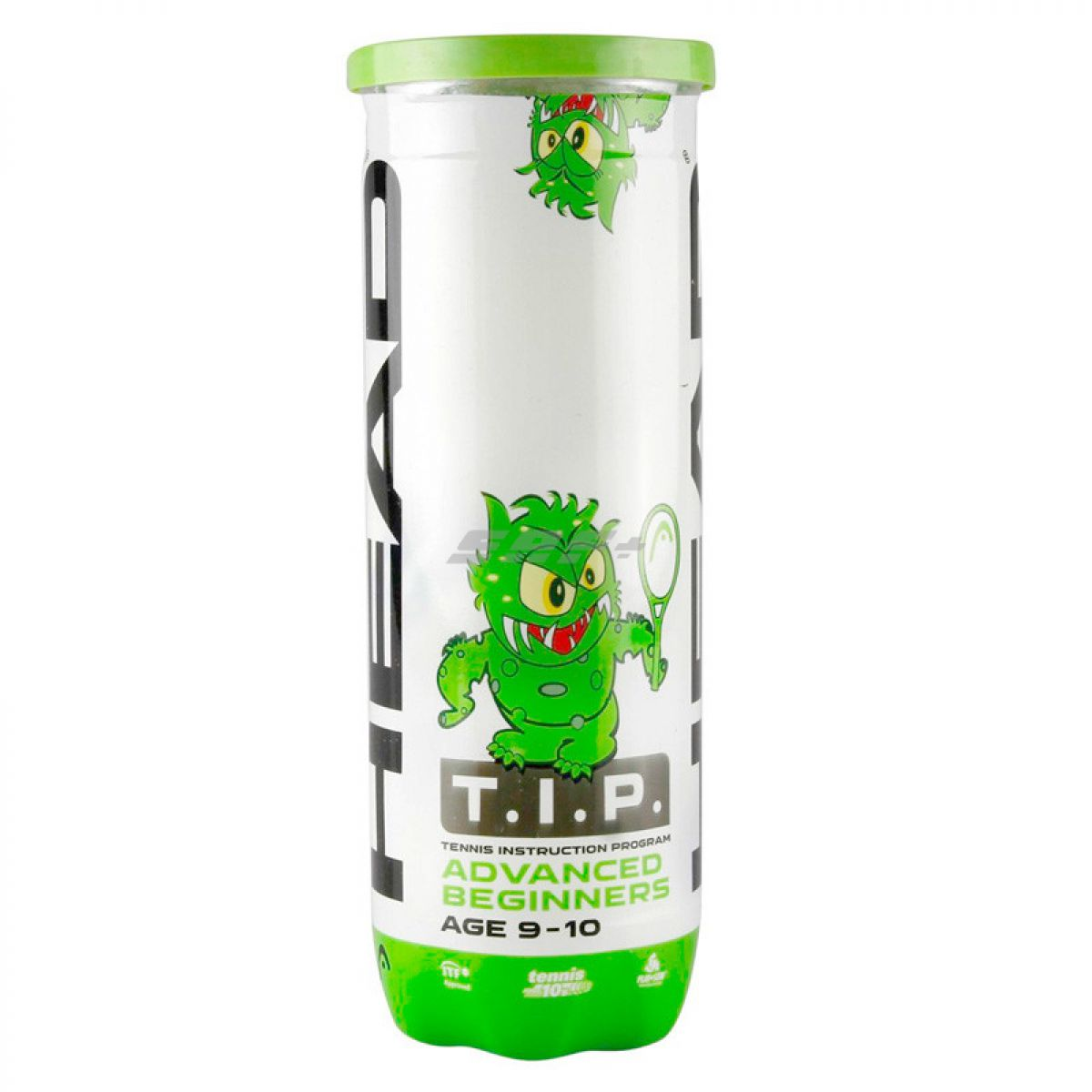 Мяч теннисный Мяч теннисный HEAD T.I.P Green, арт.578133,уп.3 шт, фетр,нат.резина,желто-зеленый