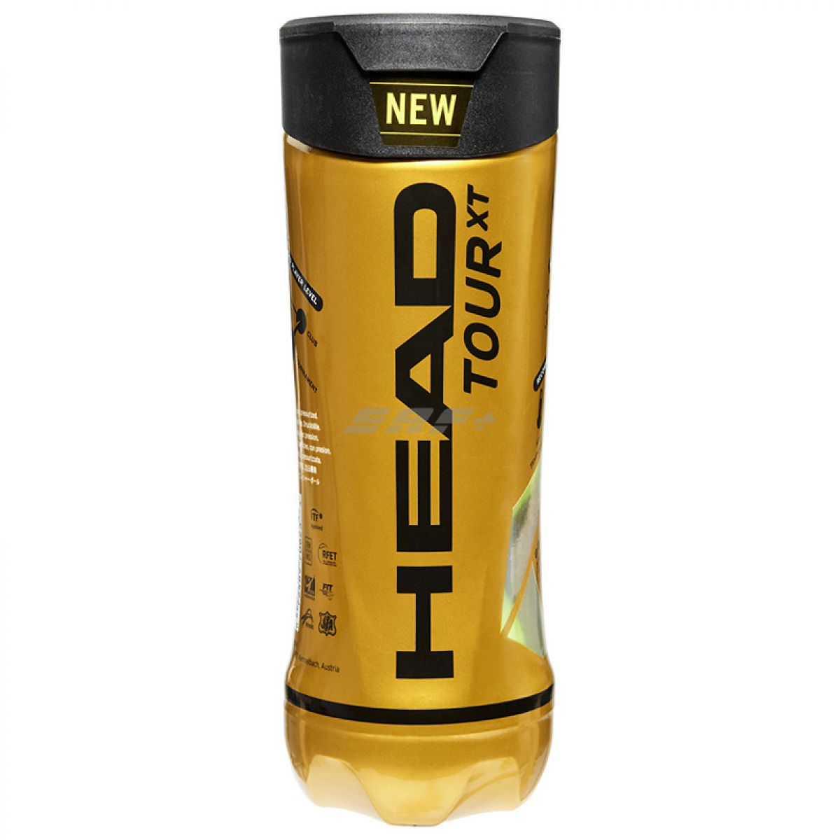 Мяч теннисный Мяч теннисный HEAD TOUR XT 3B,арт.570823, уп.3 шт,одобр.ITF,сукно,нат.резина,желтый