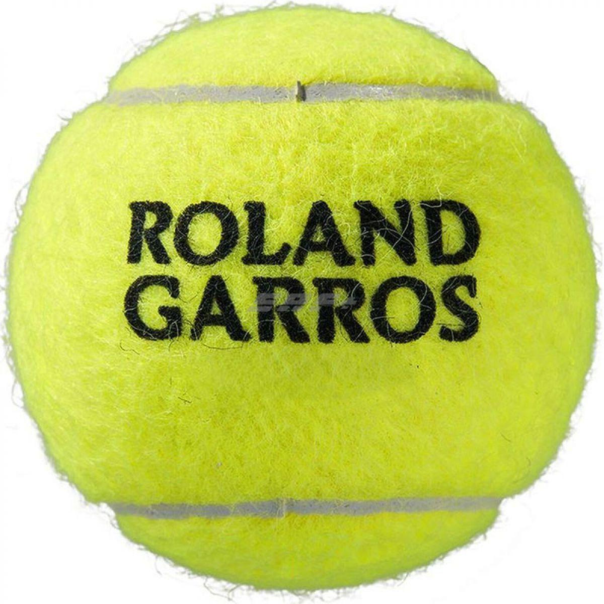 Мяч теннисный Мяч теннисный WILSON Roland Garros арт. WRT147500, фетр, нат.резина,. уп.4 шт