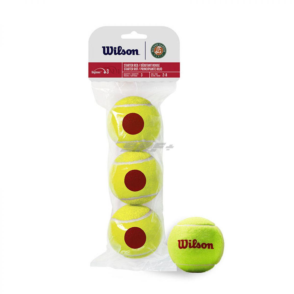 Мяч теннисный Мяч теннисный WILSON Roland Garros арт. WRT147600 , фетр, нат.резина,. уп.3 шт