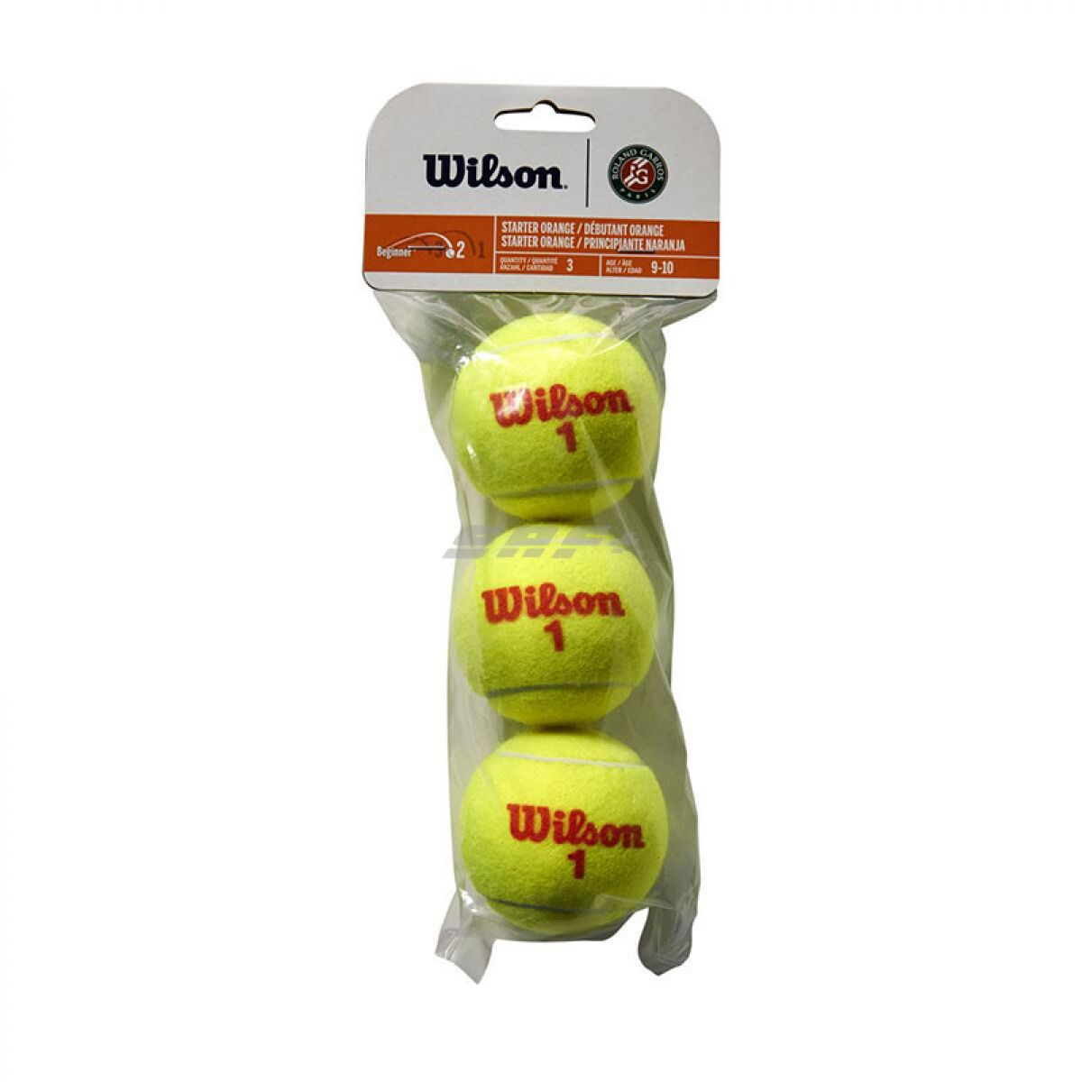 Мяч теннисный Мяч теннисный WILSON Roland Garros арт. WRT147700 , фетр, нат.резина,. уп.3 шт