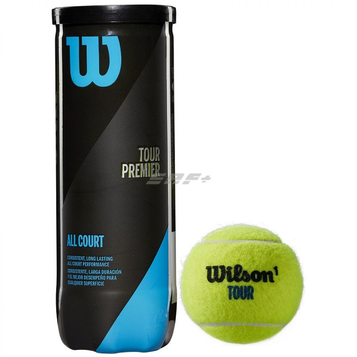 Мяч теннисный Мяч теннисный WILSON Tour Premier All Court арт. WRT109400, одобр.ITF, фетр, нат.резина,. уп.3 шт