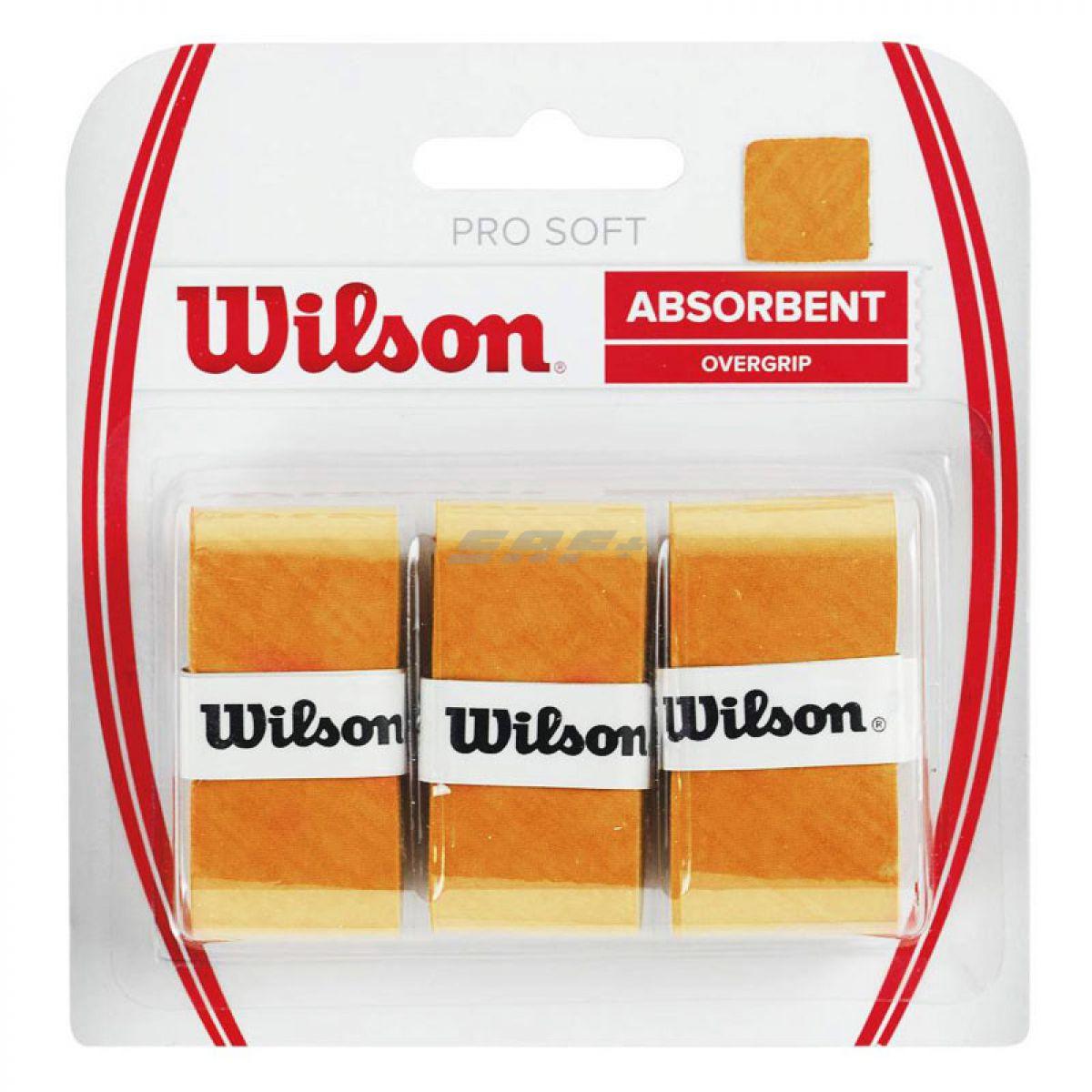 Овергрип Овергрип Wilson Pro Soft Overgrip, арт. WRZ4040GO, 0,5 мм, размер 2,5см*120см,3 шт, желтый