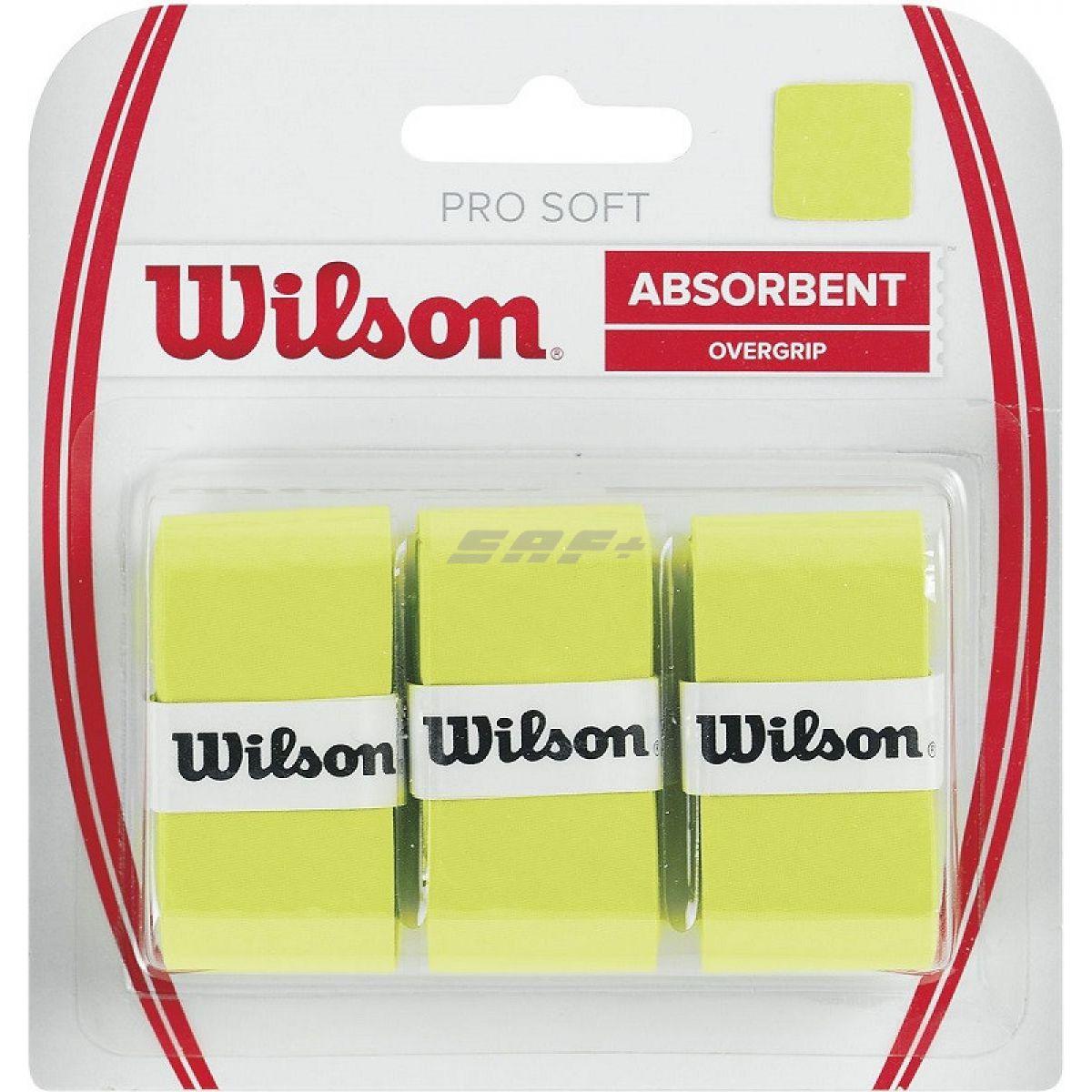 Овергрип Овергрип Wilson Pro Soft Overgrip, арт. WRZ4040LI, 0,5 мм, размер 2,5см*120см,3 шт, салатовый
