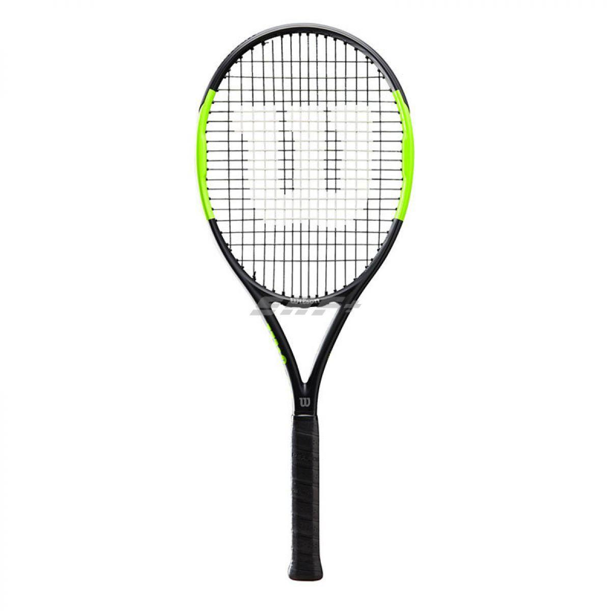 Ракетка теннисная Ракетка б/т Wilson Blade Feel Team, артWR018910U2, для любителей, со струнами, черно-зел