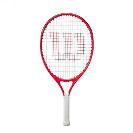 Ракетка б/т Wilson Roger Federer 23 Gr0000,арт.WR054210H,для дет.7-8 лет, алюмин.,со струн, бело-чер