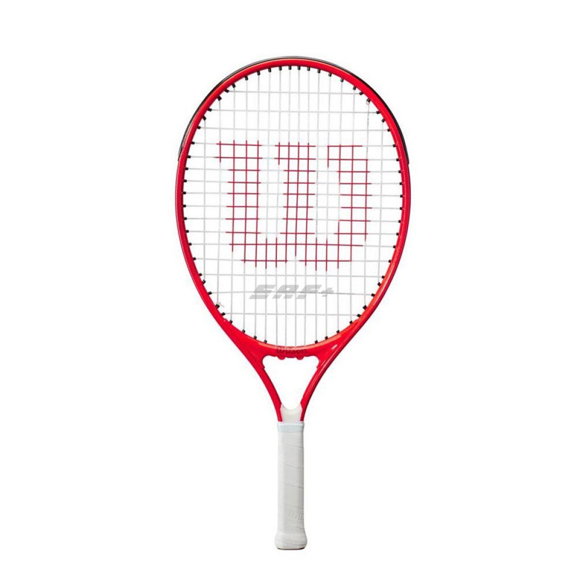 Ракетка б/т Wilson Roger Federer 25 Gr00,арт.WR054310H, для дет.9-10 лет, алюм., со струн, красн-бел