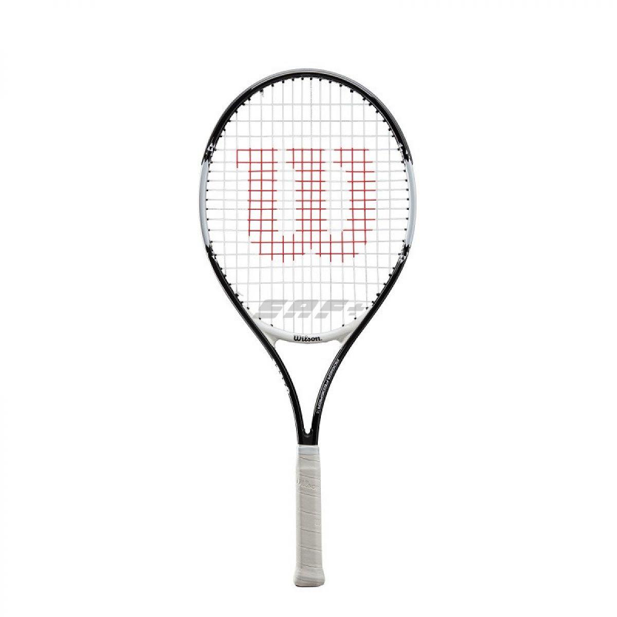 Ракетка теннисная Ракетка б/т Wilson Roger Federer 26 Gr0,арт.WR028210U, для детей 11лет, алюм.,со струн,черно-белый