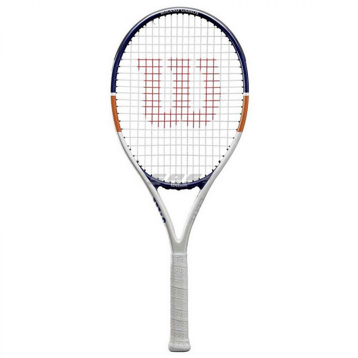 Ракетка теннисная Ракетка б/т Wilson Roland Garros Elite 23, арт. WR038810H, для 7-8лет,алюминий,со струн, бел-син-ор