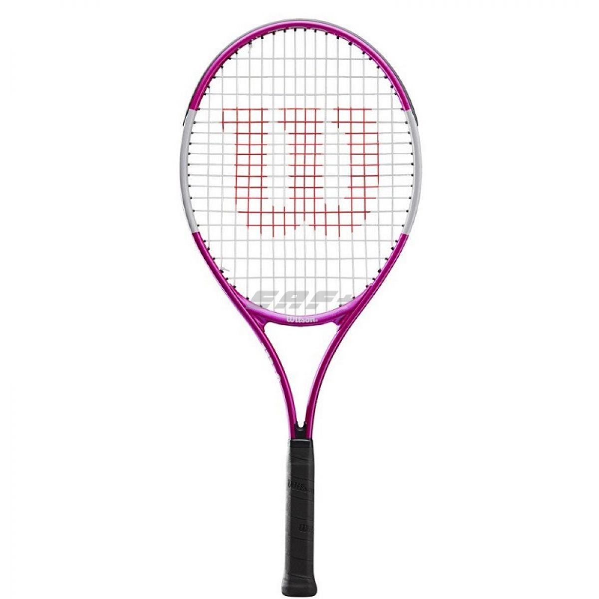 Ракетка теннисная Ракетка б/т Wilson Ultra Pink21 GR00000, арт.WR028010U,для 5-6 лет,алюминий,со струнами,роз-бел-черн