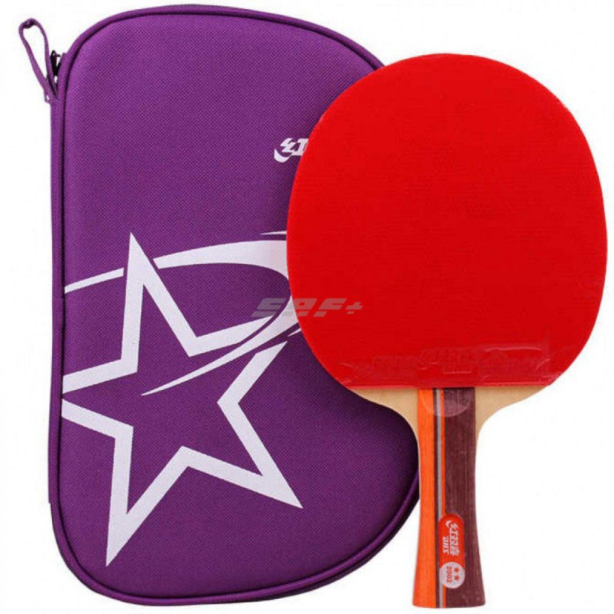 Ракетка для настольного тенниса Ракетка для н/т DHS T2002, 2** звезды, для тренировок, накладка 2,2 мм, кон. ручка