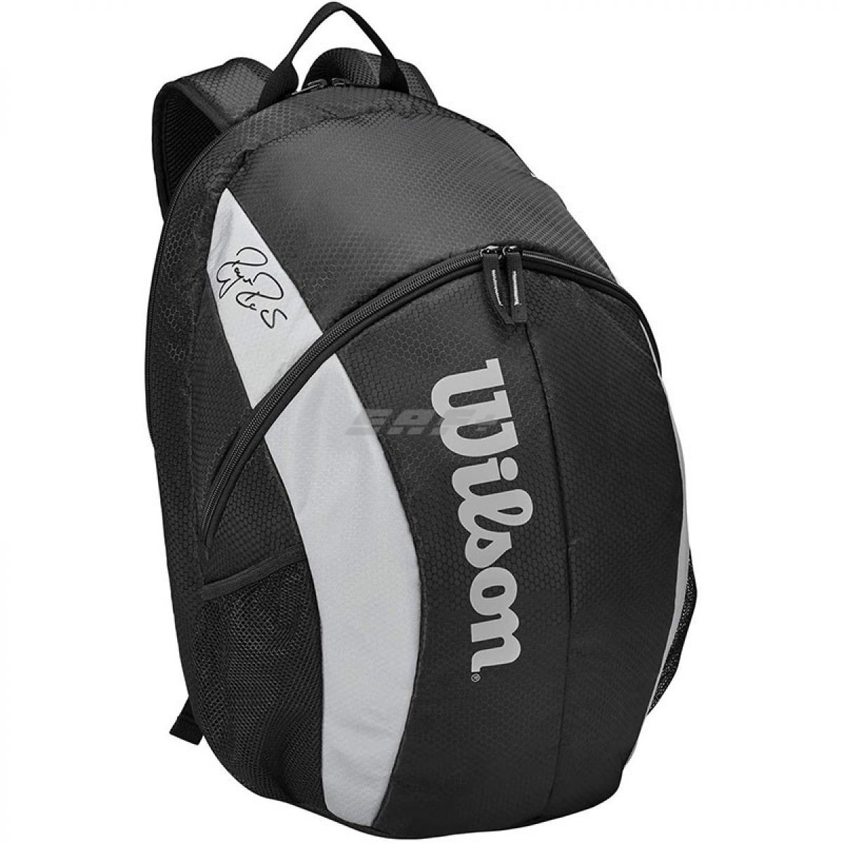 Рюкзак спорт. Wilson Team Backpack, арт. WR8005901001, с карманом под 2 тен.ракетки, черно-серый