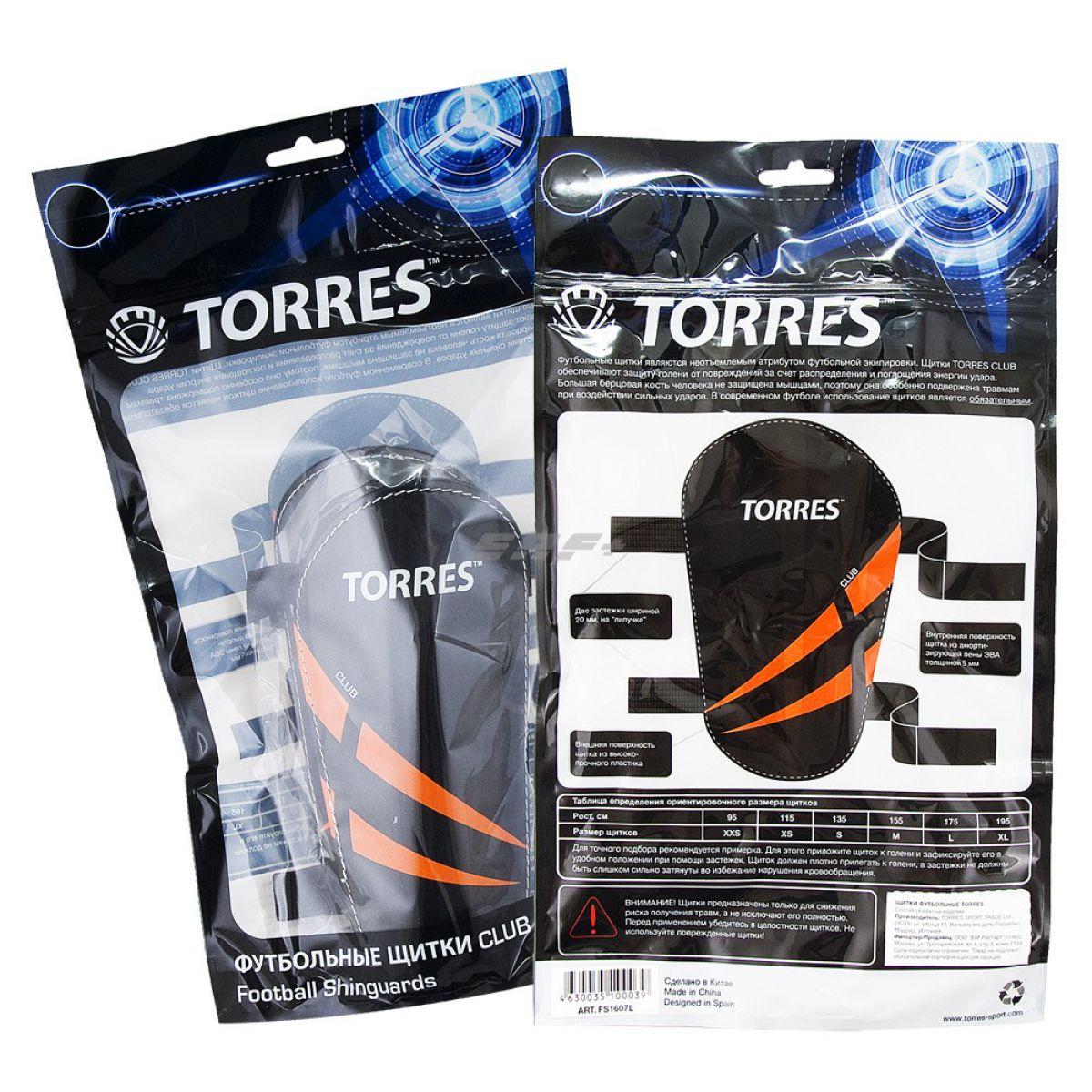 Щитки футбольные Щитки TORRES Club