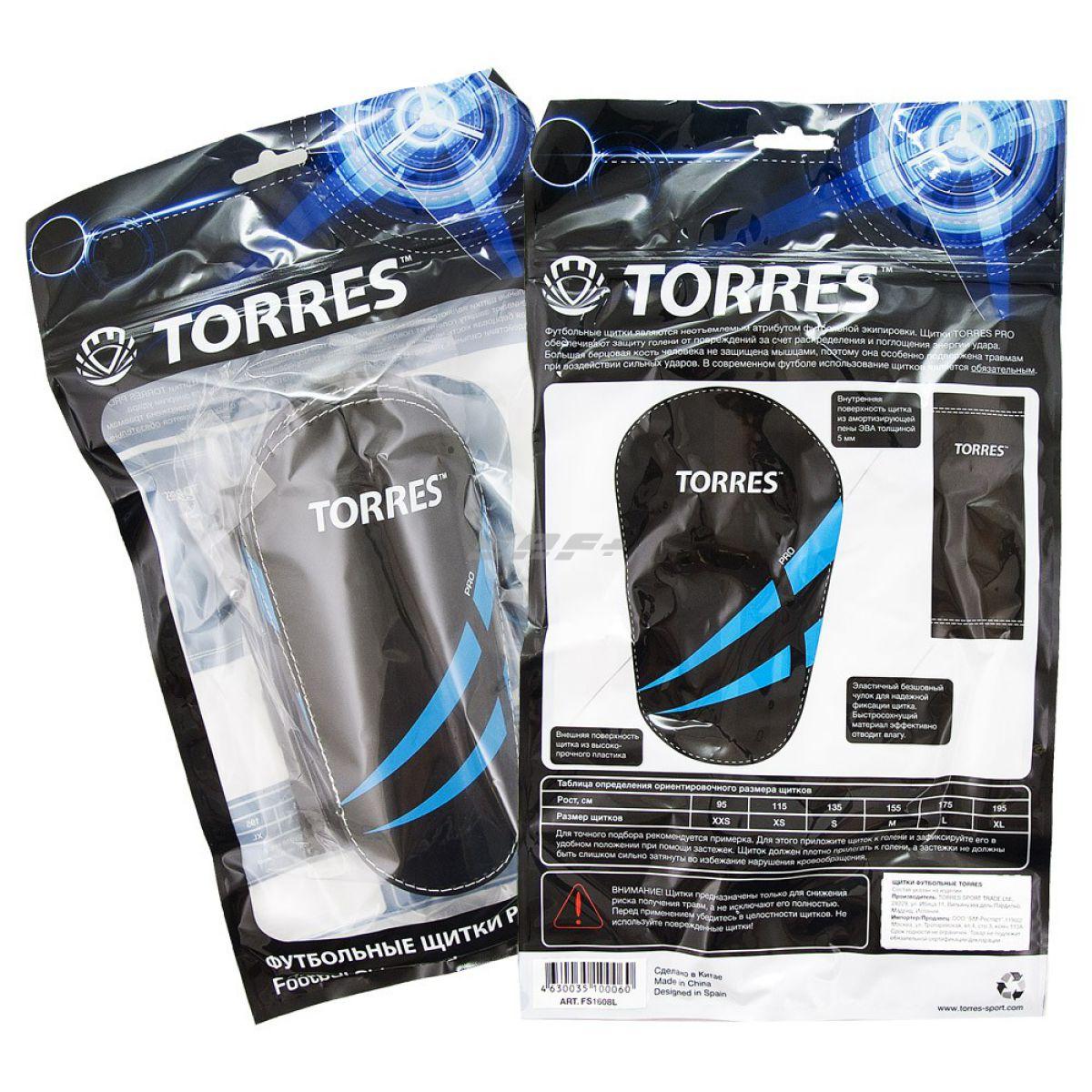 Щитки футбольные Щитки TORRES Pro