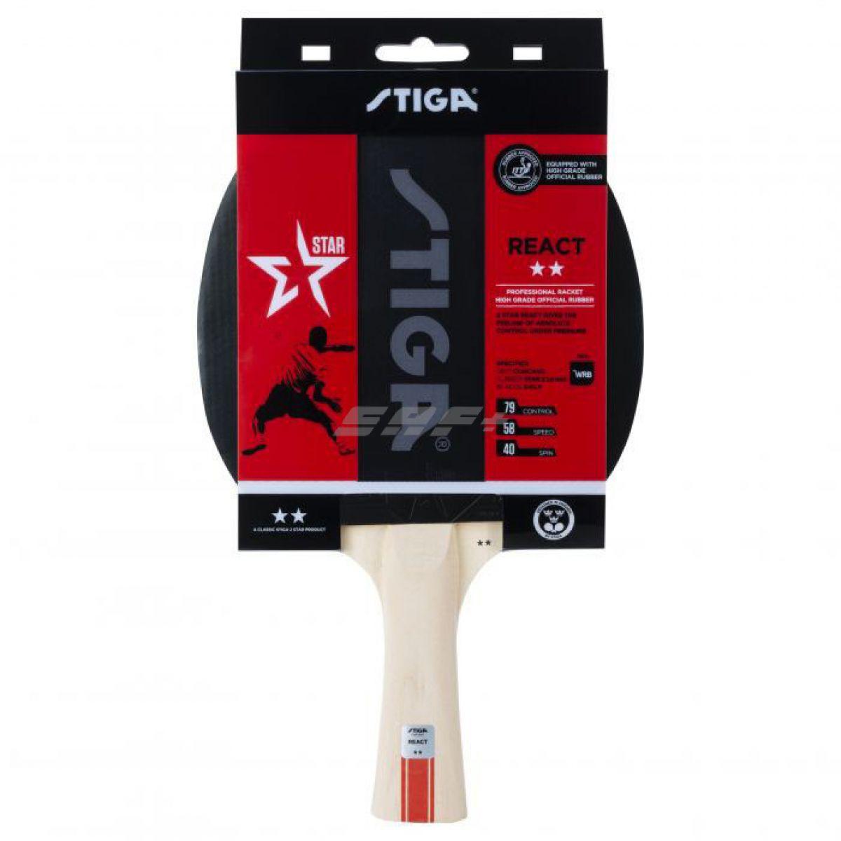 Ракетка для настольного тенниса Stiga React WRB 2**