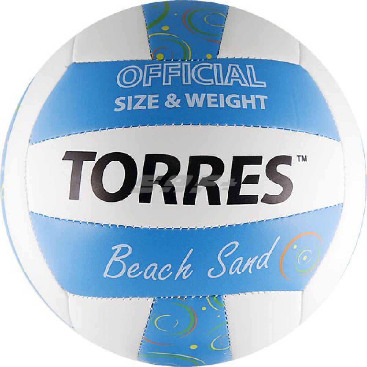 Мяч для пляжного волейбола TORRES Beach Sand Blue