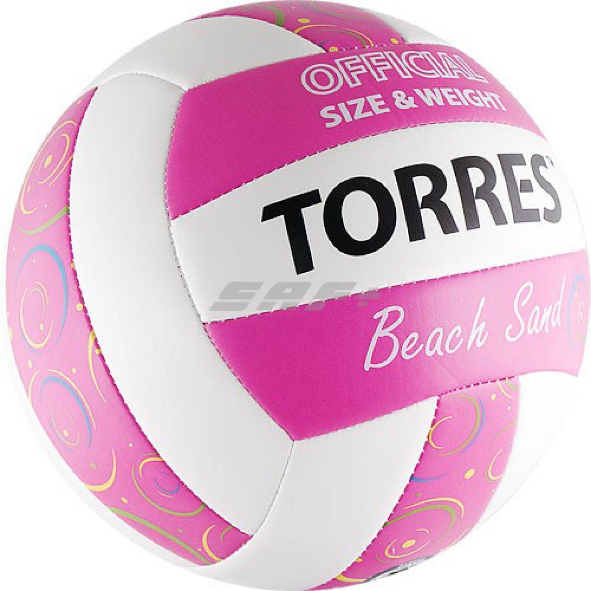 Мяч для пляжного волейбола TORRES Beach Sand Pink