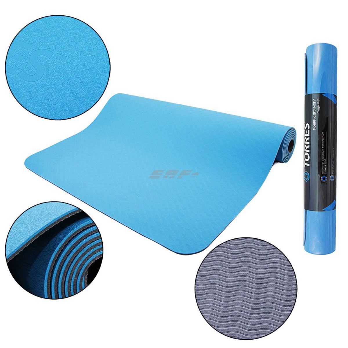 TORRES Comfort 4 Коврик для йоги 4мм