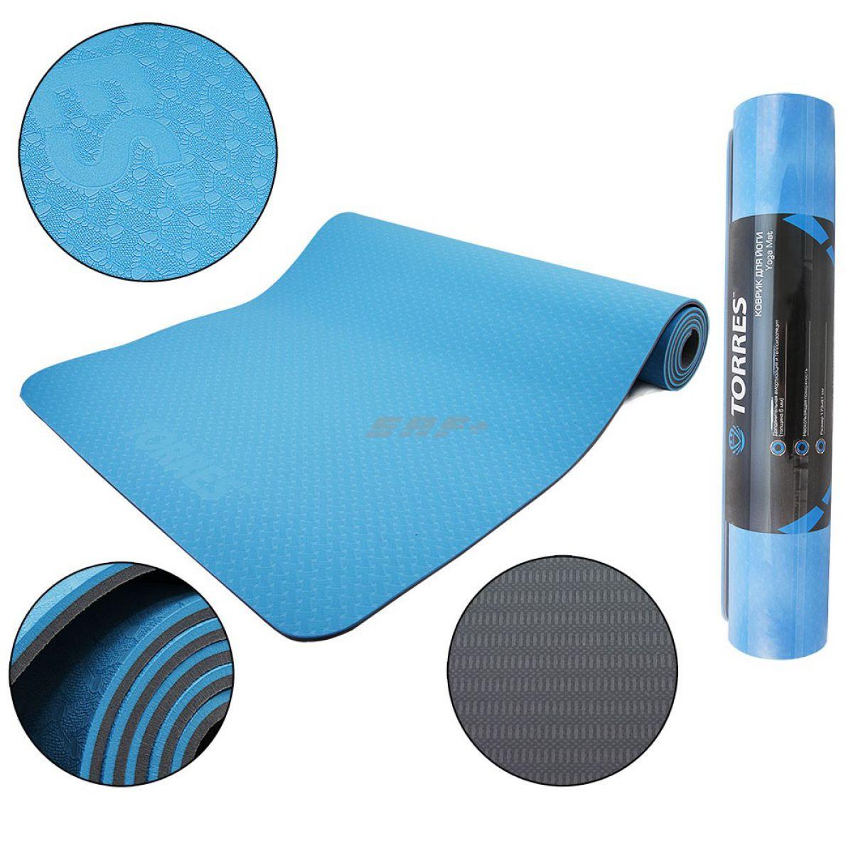 TORRES Comfort 6 Коврик для йоги 6мм
