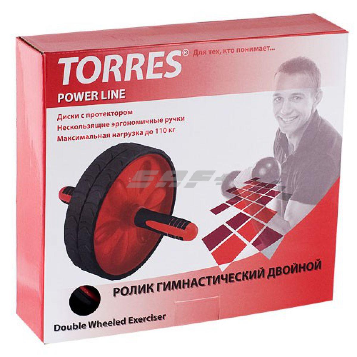 TORRES Ролик гимнастический двойной