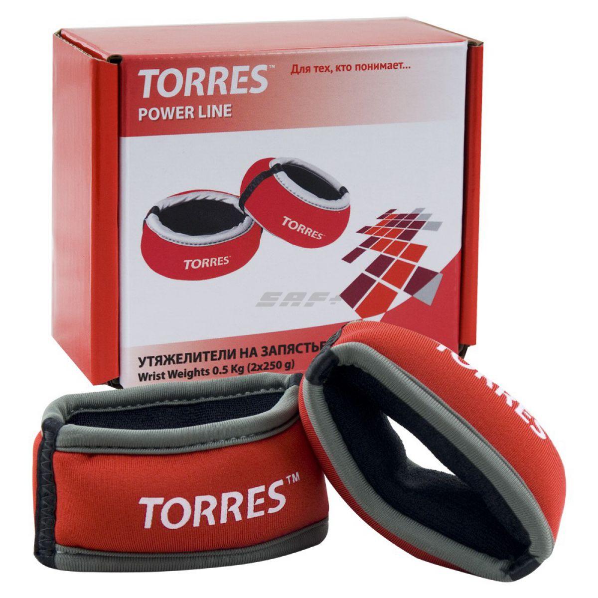 TORRES Утяжелители на запястье 0,5 кг