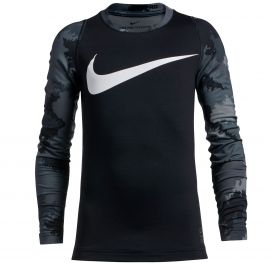 БЕЛЬЕ NIKE PRO ФУТБОЛКА HPRWM TOP AOP CREW LS JR